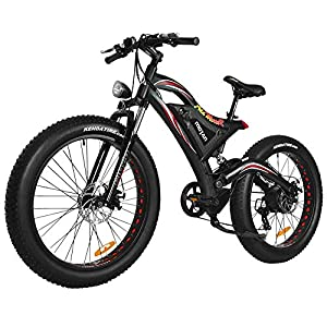 Addmotor Motan 750W Electric Mountain Snow Beach Fat Tire  Full Suspension  M-850 Bicycles 2019