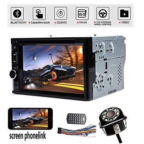 Autofu Touch Screen 2DIN Car Stereo DVD CD Player Radio FM Bluetooth Mirrorlink SWC & Camera for Ford F-150 250 350 for 04-2014 Ford Expedition Edge Explorer