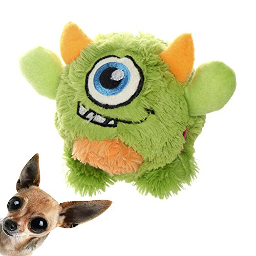 NEILDEN Interactive Dog Toys for Puppy - Non-Toxic Monster Plush Chew Dog Interactive Toys with Squeaky Stuffed Floating Ball, Great Entertainment Dog Toys for Large Dogs
