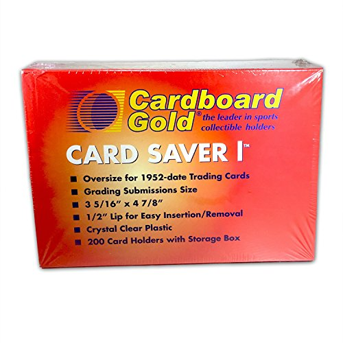 (Cardboard Gold Card Saver 1 - Semi Rigid Sleeves Protectors - PSA - BGS - Graded Card Submissions (200))