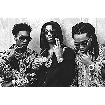 MIGOS - Hip hop, trap - Quavo, Offset and Takeoff - Poster 24in x 36in
