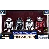 Star Wars The Force Awakens Droid Factory Figures 4-Pack (R0-4L0, R2-Q2, R4-M9 & R5-X3) Disney Parks Authentic Original Exclusive