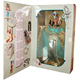 "Collector Edition Barbie Year 1993 Volume 3 The Great Eras Collection Series 12 Inch Doll - Egyptian Queen with Headdress, ""Jeweled"" Collar, Dress with Cape, ""Golden"" Sandals, Panties and Doll Stand"