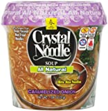 Crystal Noodle All Natural Noodle Soup, Caramelized Onion, 1.9-Ounce Cup (Pack of 6)
