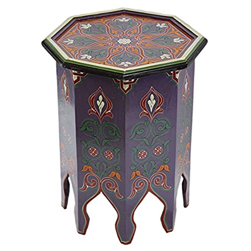 Charmant Moroccan Handmade Wood Table Side Moucharabi Delicate Hand Painted Purple  Exquisite. By Moroccan Furniture