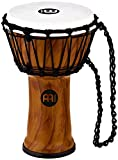 Meinl Percussion JRD-TA Synthetic Compact Junior Djembe, 7'' Diameter, Twisted Amber