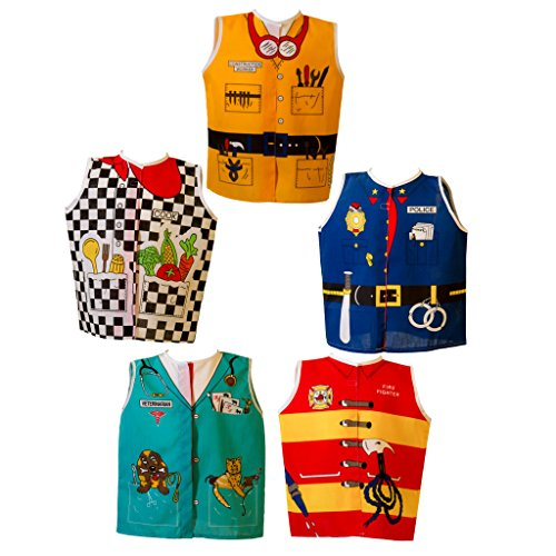 Dexter Educational Play Toddler Career Dress Up Set of 5 A (2-4 Yrs)