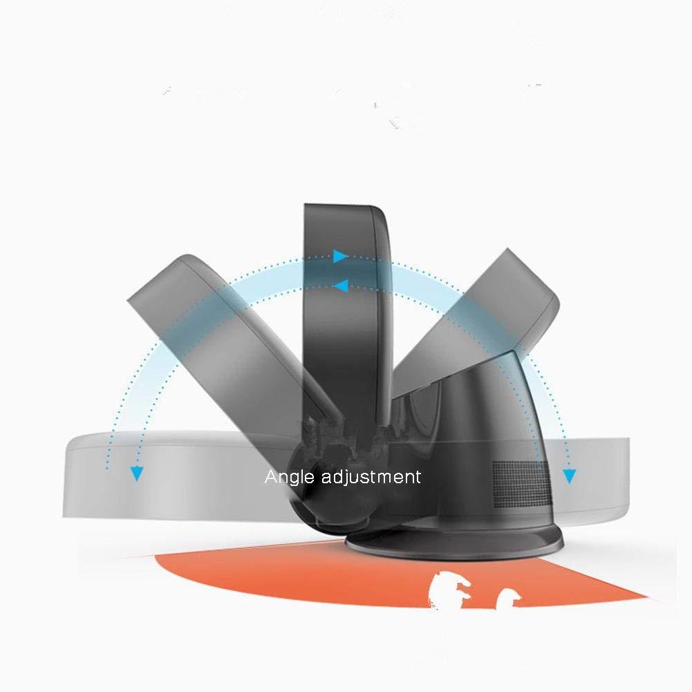 OKMIJNBH Ventilateur sans Pale Mural-Deux fichiers T/él/écommande Maison Murale Table de Sol Mural T/ête /à secouer /à 180 /° Ventilateur /électrique,White