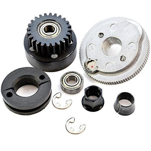 (Traxxas Jato 3.3 24T CLUTCH BELL, SHOES, SPRING, FLYWHEEL w/MAGNET, CONE & NUT)