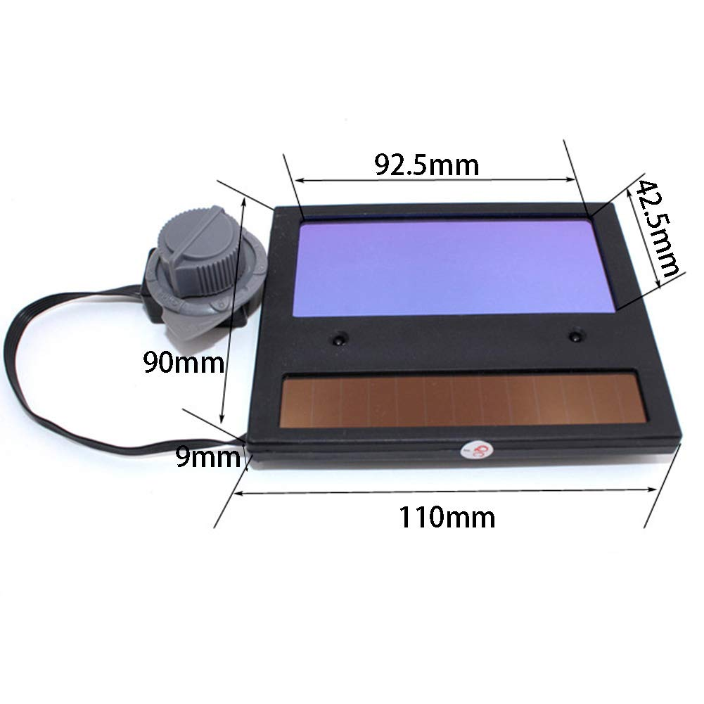 Welding Helmet Replace Lens,Mask Welder Cap Grinding Lens Filter Shade Mask Goggles,Solar Energy Auto Darkening LCD Display as The Picture