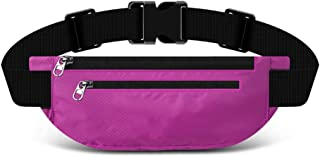YZPYB Bolsillos Deportivos multifunción para Correr Hombres y Mujeres cinturón para teléfono móvil Mini Viaje Paquete de Equipo Exterior Invisible Impermeable a la Moda (Color : Pink)