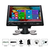 led video display - CCTV Monitor, 7 inch Ultra-Thin High-Res 1024x600 Monitor, AV/VGA/HDMI Input,Portable TFT LCD CCTV Video Display Screen,Touch Button, Built-in Speaker, for Security Surveillance Cam, By WHOLEV ¡