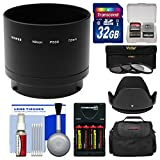 Bower ANP53072 Conversion Adapter Tube for Nikon Coolpix L830 Camera (72mm) with 32GB Card + Case + Batteries & Charger + 3 UV/CPL/ND8 Filters + Lens Hood Kit
