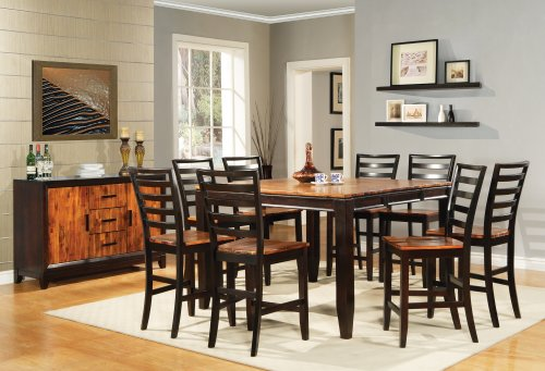 Steve Silver Furniture Abaco Counter Height Dining Chair in Multi-Step Acacia [Set of 2] (Abaco Counter)