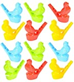 Rhode Island Novelty 2.5-Inch Water Bird Warbler, Bright Assorted Colors (12-Units)