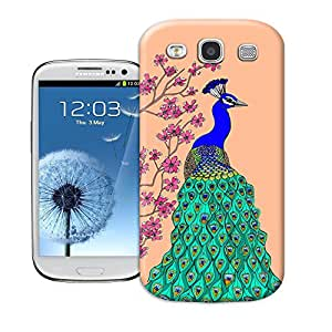 BY SHICASE Beautiful Peacock And Pink Flowers Popular Phone Case Cover For Samsung Galaxy s3
