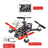 SunFounder BEE-100S 100mm Micro FPV Racing Quadcopter Drone 600TVL 5.8G 40CH 25mW Camera 2S 8520 DC MOTOR F3 EVO Brush Flight Controller Carbon Fiber Frame Kit Cleanflight Betaflight