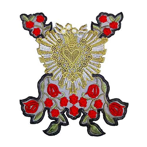Vi.yo ワッペンアップリケ 刺繍パッチ おしゃれ 女の子 衣類アクセサリー 刺繍パッチクラフト装飾 DIY ギフトの商品画像