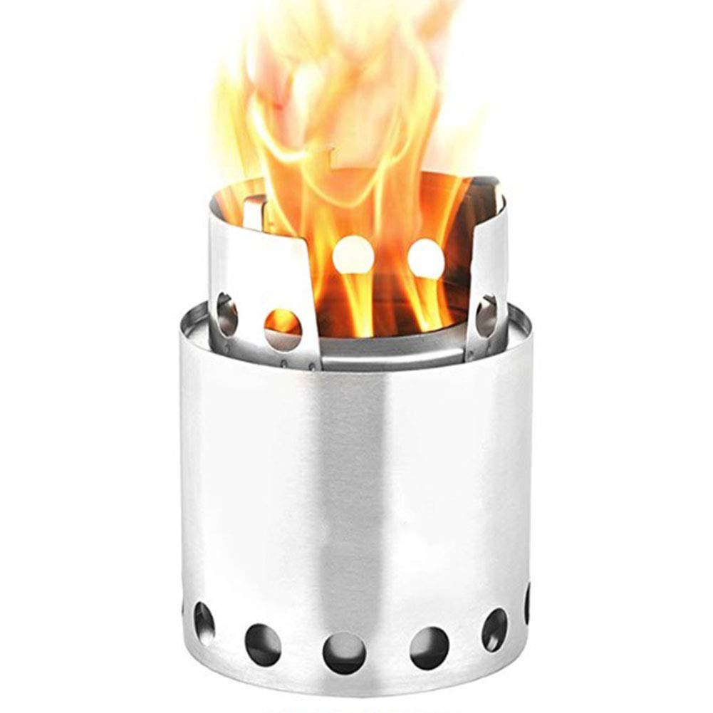 Compact Wood Burning Backpacking Stove for Backpacking, Camping, Survival,Stainless Steel,0.6kg