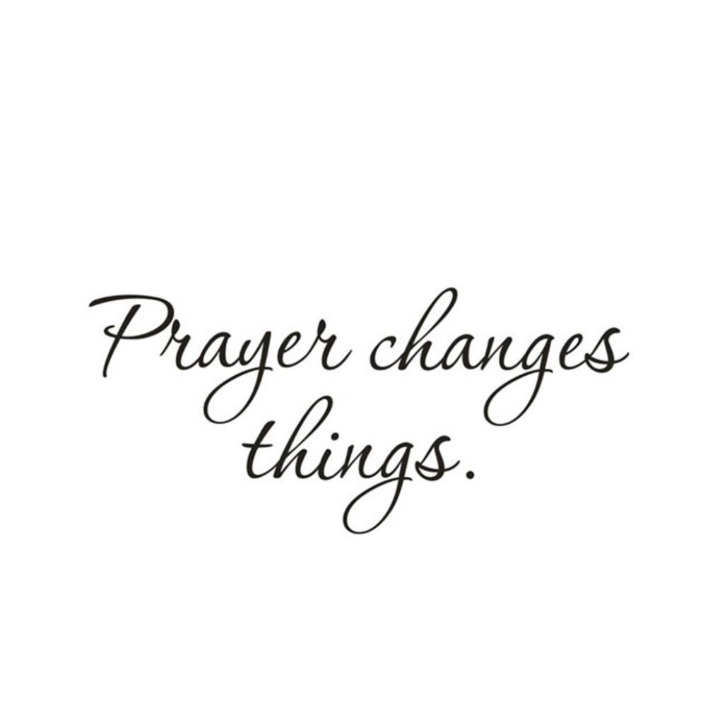 OVERMAL Decor,Prayer Changes Things Removable Art Vinyl Mural Home Room Decor Wall Stickers
