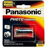 PANASONIC CR-123 Photo Battery 3V Lithium 1 Pack