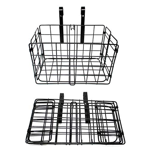 Trademark Innovations Folding Bike Basket Rack for Rear or Front of Bicycle
