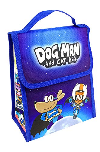 (MerryMakers Dog Man and Cat Kid Insulated Lunch Bag, 10-Inch)
