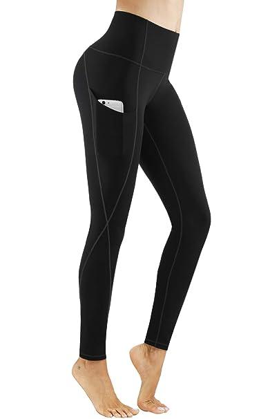 Amazon.com: PHISOCKAT Pantalones de yoga de cintura alta con ...