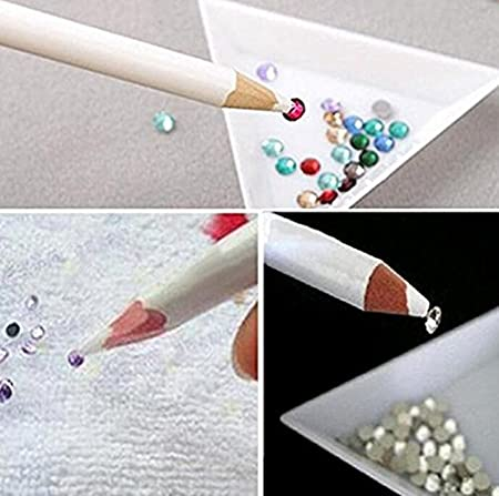 Omeny 5pcs mini pluma de arte mágico de clavo recoger piedras preciosas herramientas de lápiz (17.5cm)