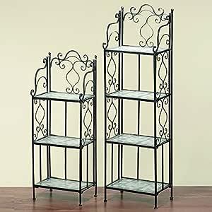 Diseño atemporal Regal Colima 3 suelos de mosaico y metal 107 cm de alto, estantería, estante: Amazon.es: Hogar