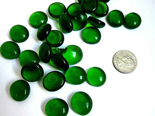 50 Emerald Green Mosaic Tiles, Flat Marble Glass Mosaic Pieces, Glass Gems, Mosaic Art Supplies, Tile Mosaic Supply, Mosaic Craft Tiles, Broken Dish Piece -