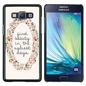 Dragon Case - FOR Samsung Galaxy A5 A5000 A5009 - find beauty motivational wreath flower - Caja protectora de pl??stico duro de la cubierta Dise?¡Ào Slim Fit