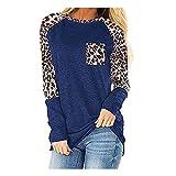 Women's Long Sleeve Leopard Print T-Shirt Blouse