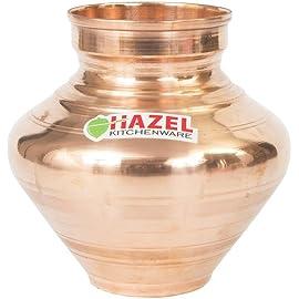 HAZEL Copper Water Lota (1400 ml, Brown)