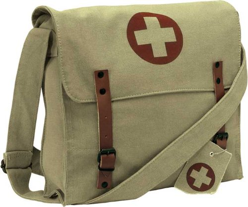 Ultra Force Nato Canvas Medic Messenger Bag - Khaki