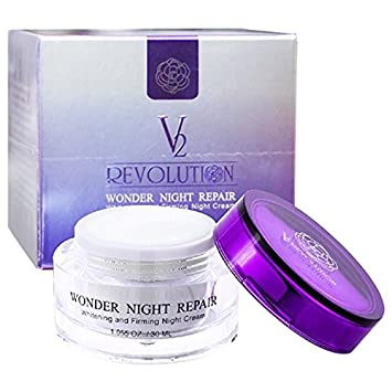1.0 OZ 30ML. V2 REVOLUTION WONDER NIGHT REPAIR WHITENING AND FIRMING NIGHT CREAM