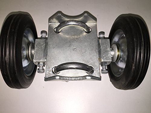 ROLLING GATE Double Carrier Wheel – 6 Solid Rubber Wheels – 6 Axle Assembly