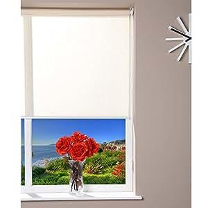 Ventana transparente para estor enrollable Easy Fix - crema - 100 x 150 cm