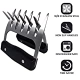 Metal Meat Shredder Bear Claws – LIFEMASTER Stainless Steel Meat Forks With Handle - BBQ Meat Handler For Pulling, Shredding, Serving - Ultra-Sharp Blades, Easy To Clean & Safe To Use