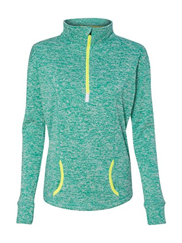 J. America 8617 - Ladies' Cosmic Fleece Quarter Zip Pullover America Polyester Fleece
