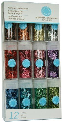 Martha Stewart Crafts Iridescent Glitter 12-Pack: Vintage Leaf (Glitter Leaves)
