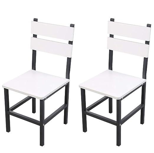 Amazon.com: Juego de 2 sillas de comedor modernas ...