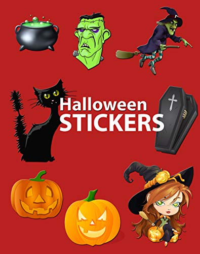 Halloween Stickers: More Than 120 Halloween Stickers for Kids and Adults for $<!---->