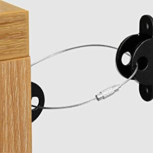 Aibrisk Furniture Straps 10 Pack, Metal Furniture Anchors for Child Safety Proofing Anti-tip Wall Anchor Kit Baby and Pet Safety Falling Furniture Prevention Straps for Cabinet Dresser Bookshelf
