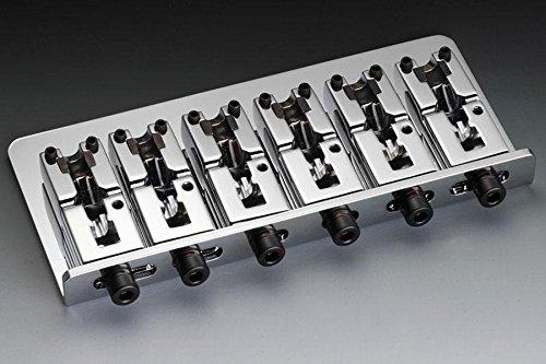Schaller 6-Str Bass Bridge Chrome w/Adj 3-1/16''--3-7/8'' Allparts BB-3555-010