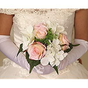 YJBear Artificial Rose Flower Bridal Bouquet for Wedding Korean DIY Silk Flower Carnation for Party Home Decoration 27