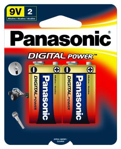 Panasonic Digital Power 9 Volt Alkaline Batteries -