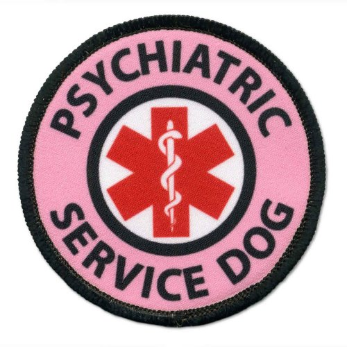 Pink Psychiatric Service Dog Medical Alert Symbol 2.5 inch B