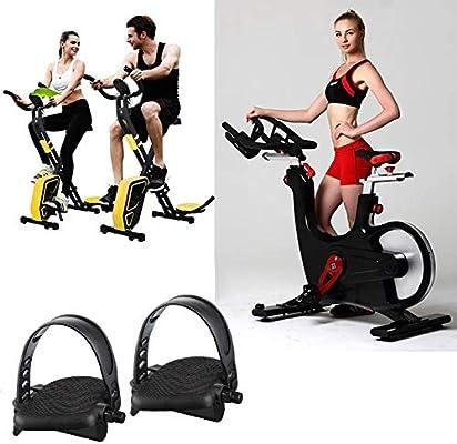 Blossomer Pedal de Bicicleta estática con Correas Ajustables, Bicicleta estacionaria/Bicicleta de Spinning/Juego de Pedales de reemplazo reclinado para Equipo de Ejercicio y Bicicleta: Amazon.es: Deportes y aire libre