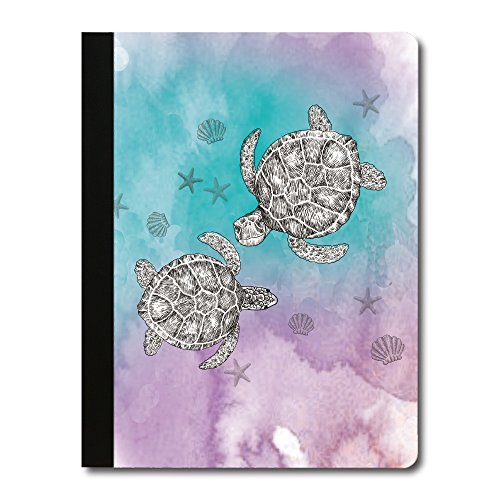 Tree-Free Greetings Boho Sea Turtle Soft Cover 140 Page Recomposition College Ruled Notebook, 9.75 x 7.25 Inches (CJ47106)